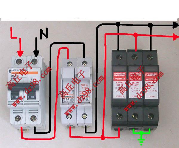 家用漏电空开接线图图片大全 危险的接线图片