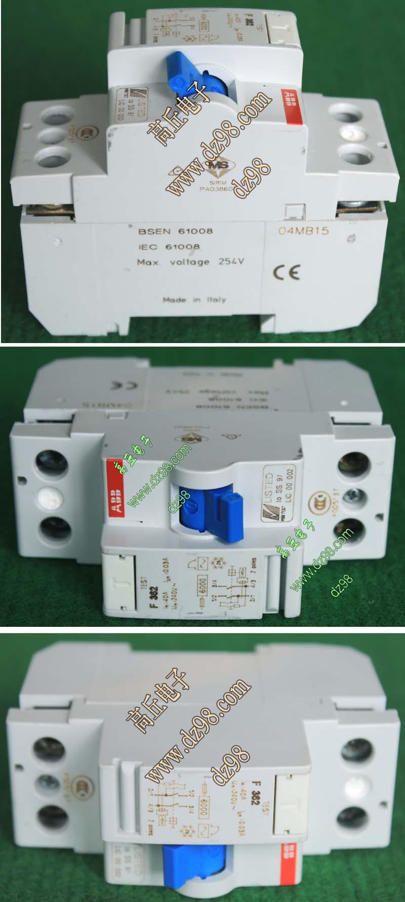 导轨安装,工作电压ac240v